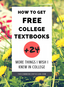 Free college textbooks and other things I wish I knew before college