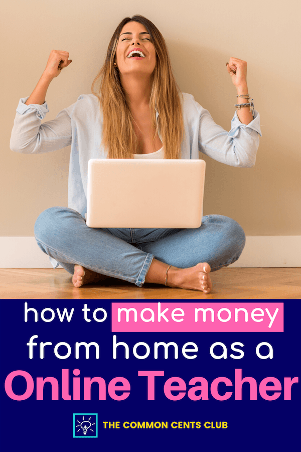 how-to-make-money-from-home-as-online-teacher-common-cents-club-review-pinterest