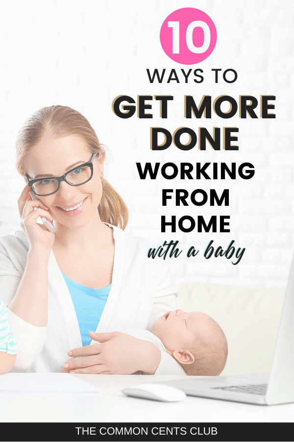 productivity hacks working from home with baby
