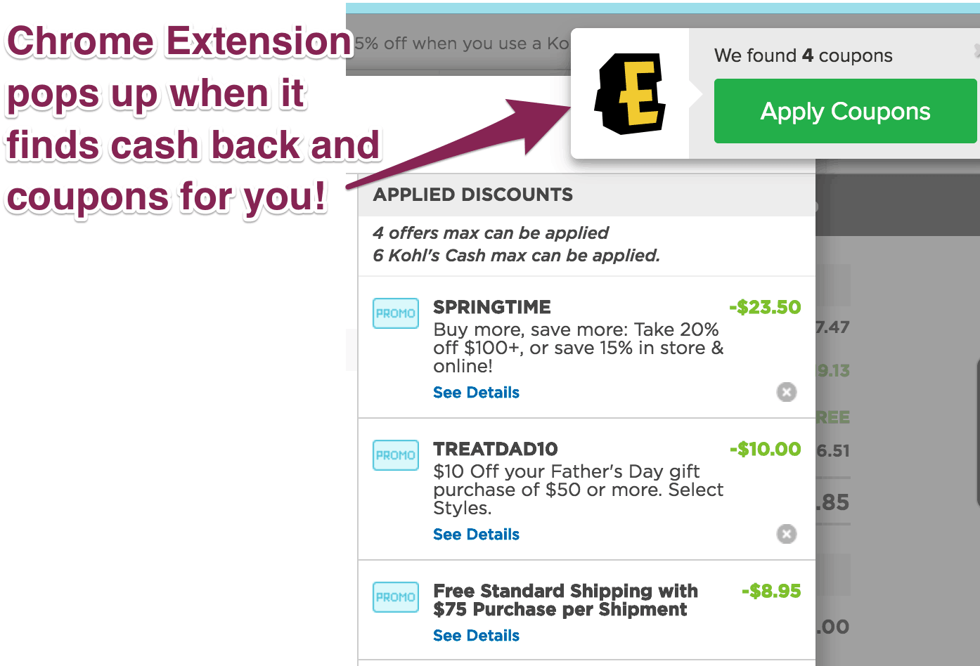 5cef0ac3d1 ... cash back. This eliminates step 2 above so you don t have to go to  Ebates.com before making a purchase