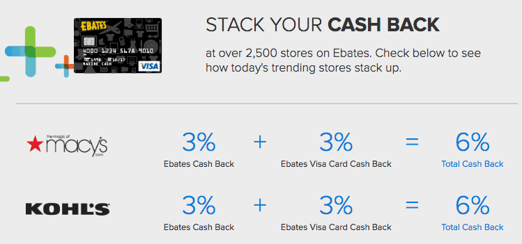 ebates reviews more cash back with credit card offer