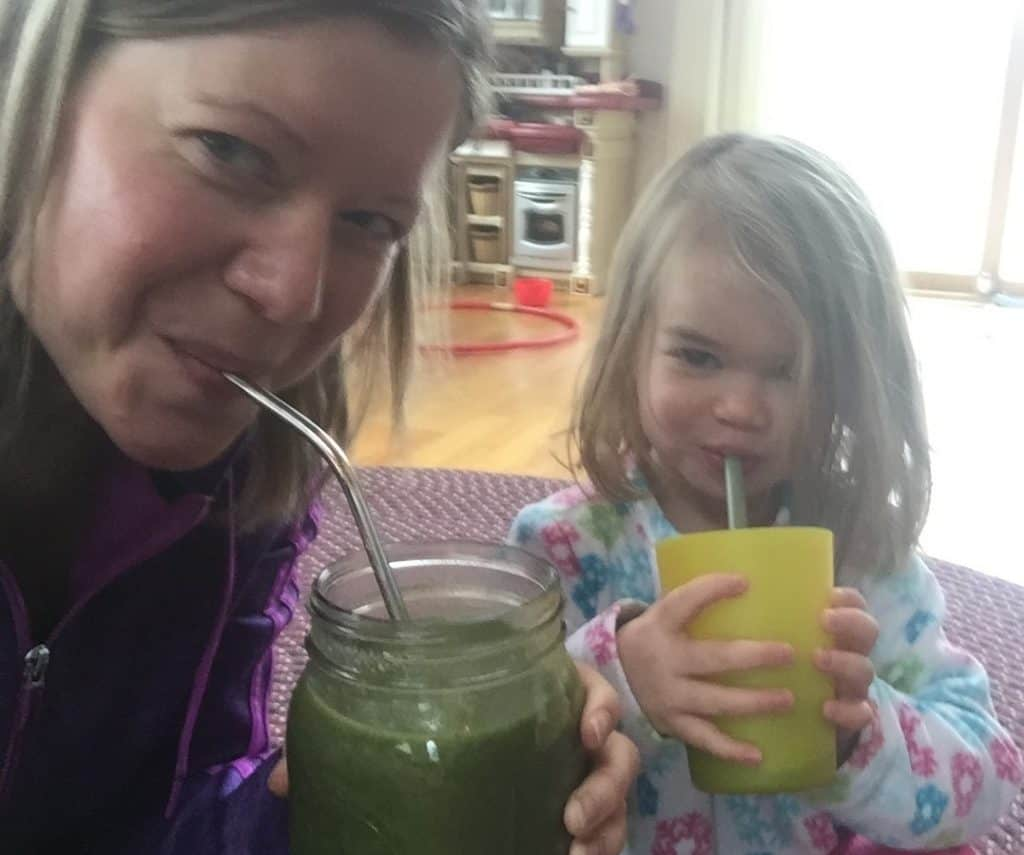 get toddler to eat veggies in green smoothie