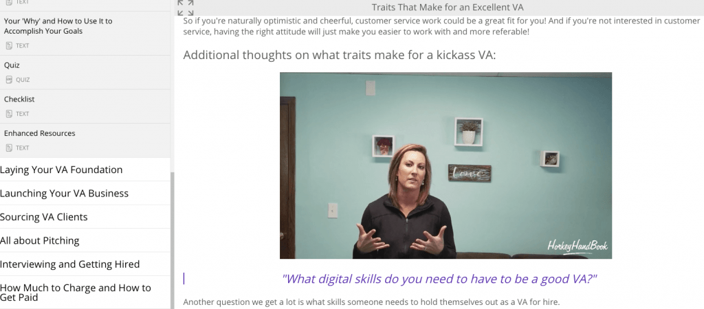 virtual assistant training with gina horkey