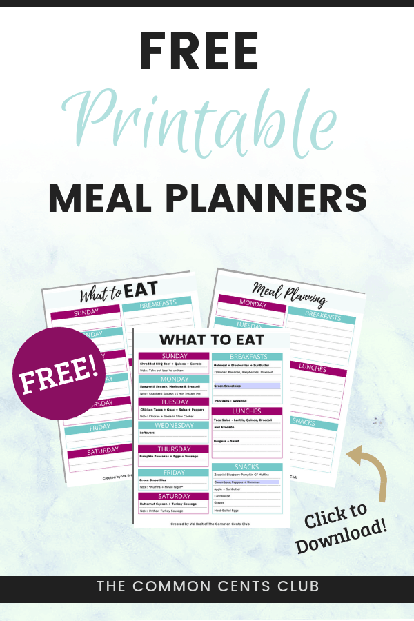 meal planning template to save money  eat healthy and plan weekly meals in 10 minutes or less