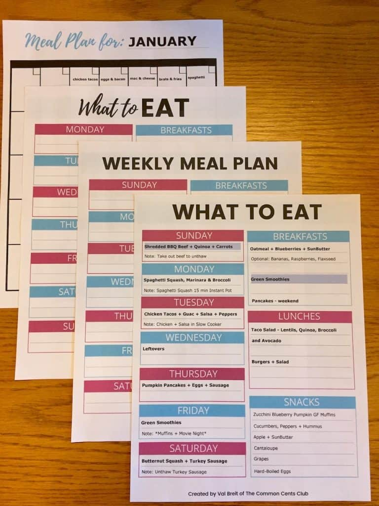 photograph about Free Printable Meal Planner Template titled Dinner Developing Template in direction of Conserve Income, Consume Balanced and Program