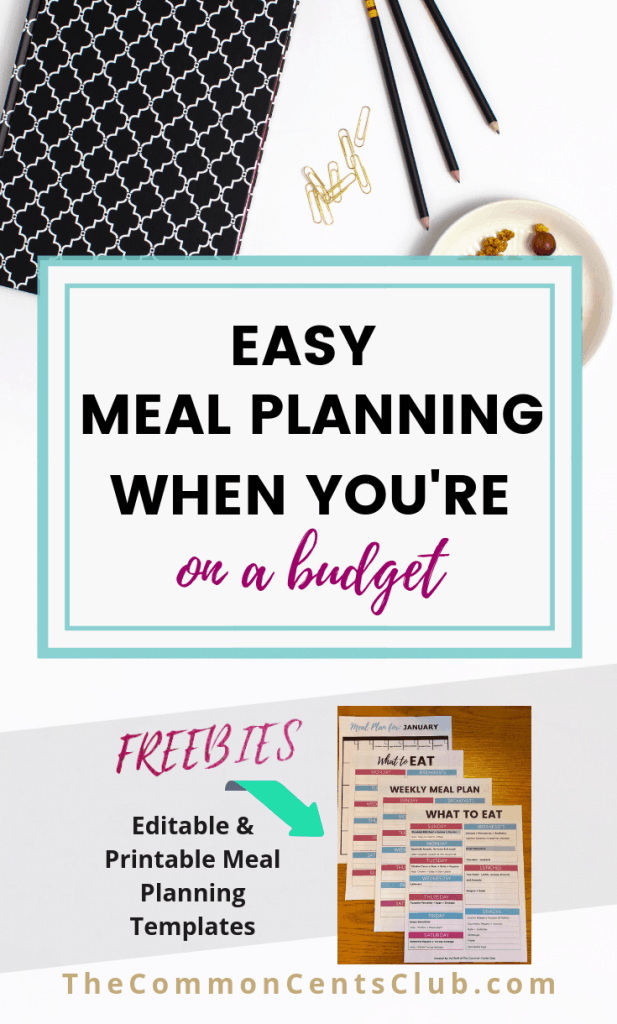 Meal Planning Template To Save Money Eat Healthy And Plan Weekly