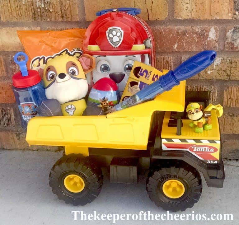 Paw-Patrol-Dump-Truck-Easter-Basket-idea-for-toddler-boy