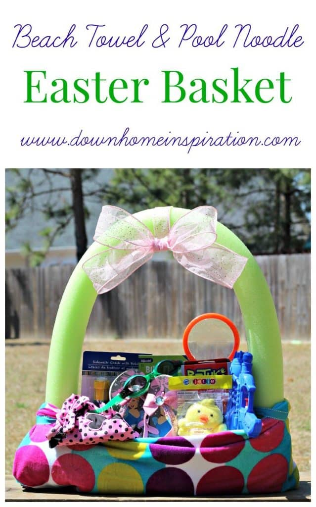beach-towel-pool-noodle-easter-basket