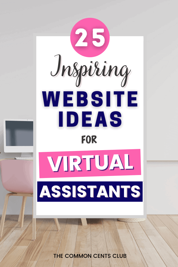 best-virtual-assistant-website-examples-common-cents-club-pinterest
