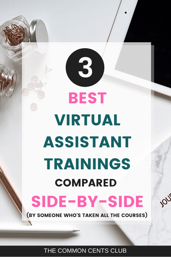 best virtual assistant training courses compared side-by-side with pros and cons