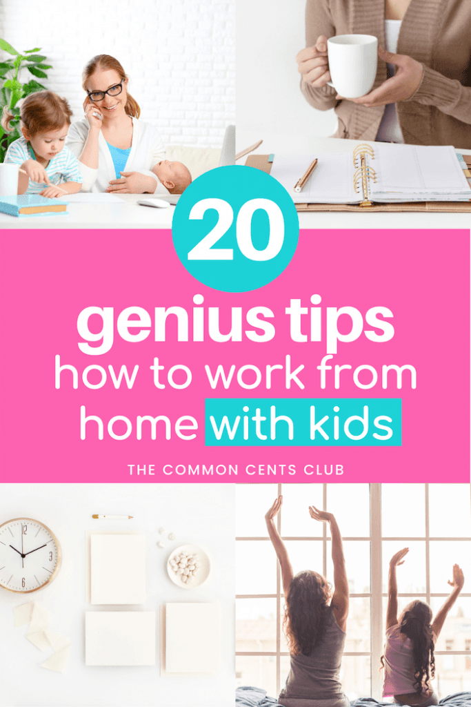 working-from-home-with-kids-tips-schedule-productivity-common-cents-club-pinterest