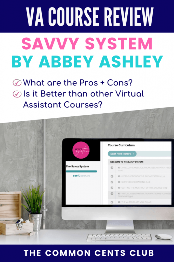 savvy-system-review-virtual-assistant-course-common-cents-club-pinterest