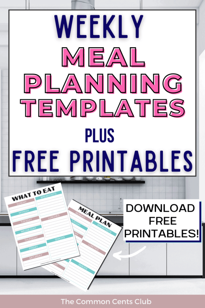 weekly-meal-planning-templates-free-printables-common-cents-club-pinterest